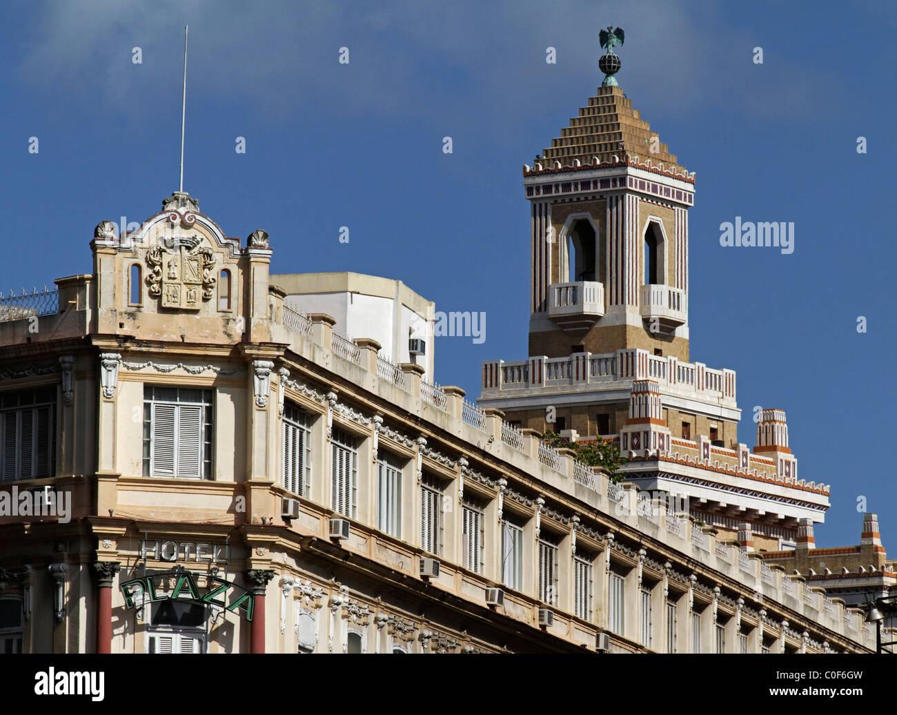 Barcadi Turm, Havanna Vieja, Kuba Stockfoto