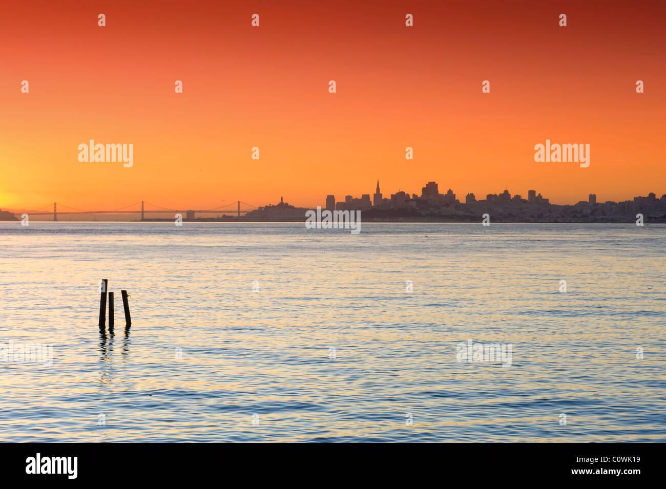USA, Kalifornien, San Francisco, Skyline der Stadt Stockbild