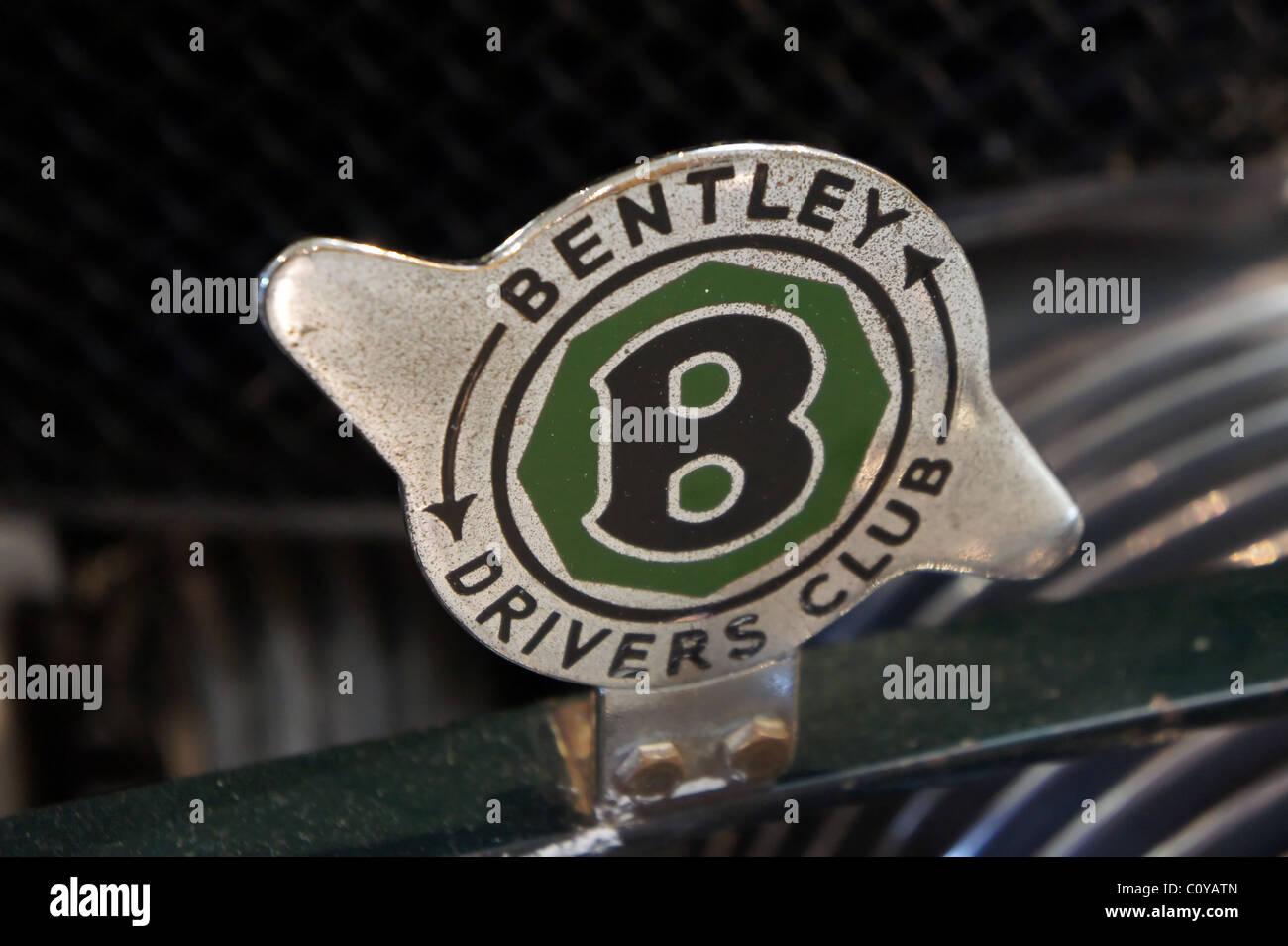 Bentley-Fahrer-Club-Abzeichen Stockbild