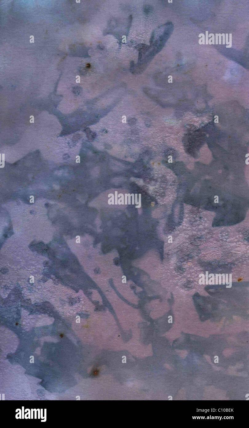 Zerknittertes Papier Textur mit Kratzer und Flecken Stockbild