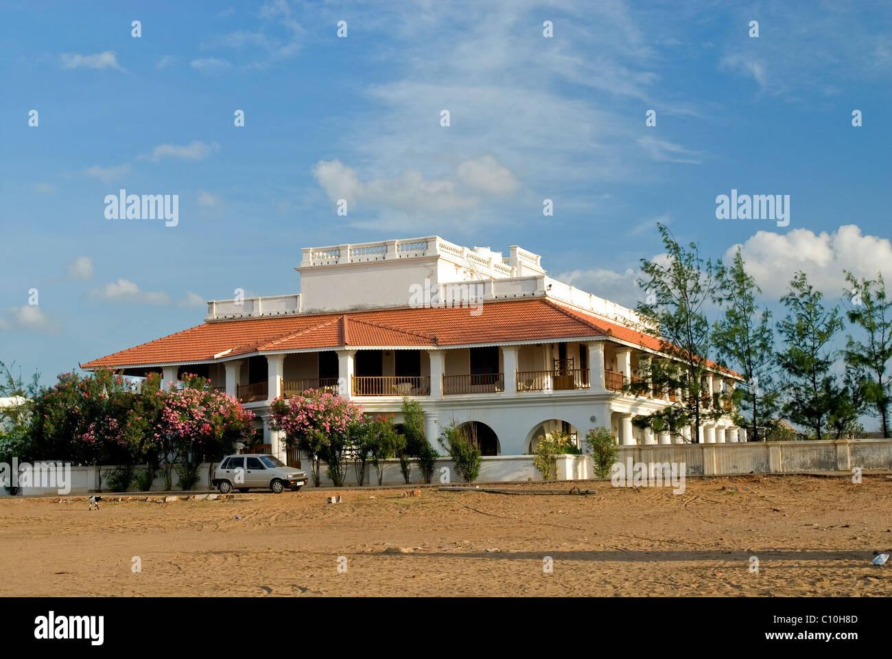 STRAND IN THARANGANBADI TAMILNADU Stockbild