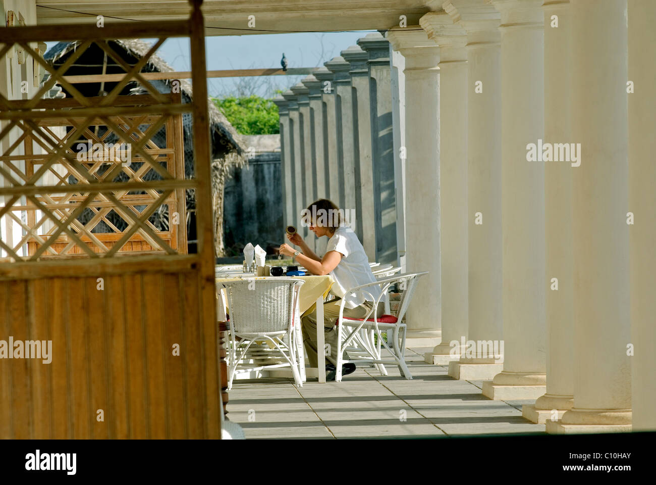NEEMRANA HOTEL IM THARANGAMBADI TAMILNADU Stockbild