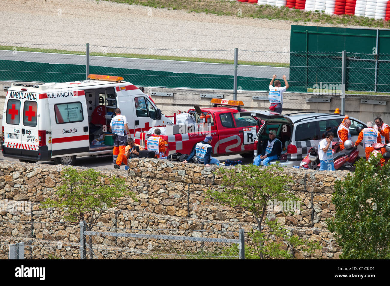 "Die Formel 1 Grand Prix im Autodrom ""Catalunya Montmello"" am 9. Mai 2010 in Barcelona. Stockbild"