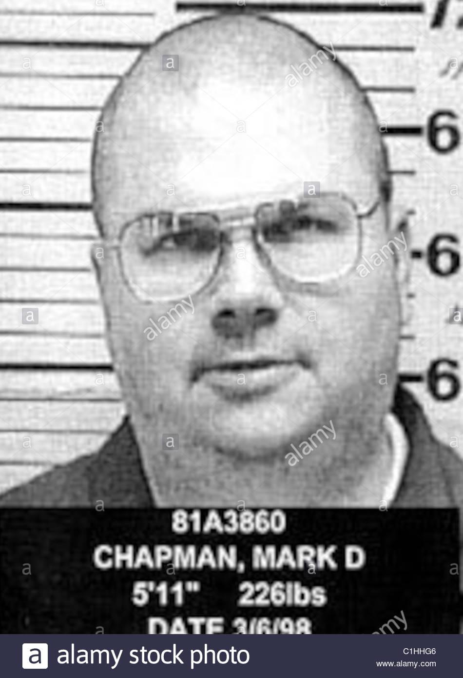 Mark David Chapman Mugshot Stockfoto