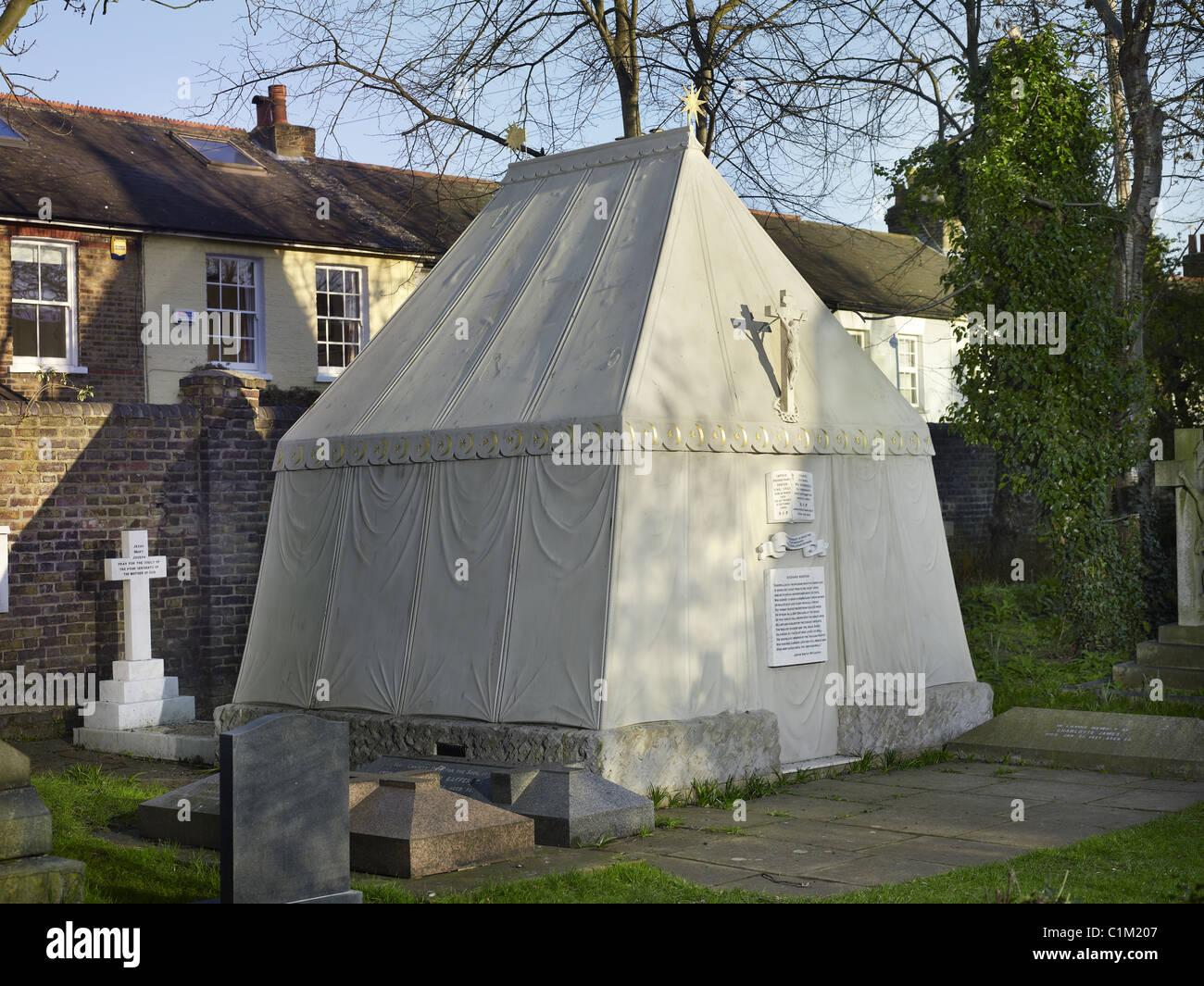 Grab in Form von einem arabischen Beduinen-Zelt, errichtet von seiner Witwe Isabel von britischen Forscher Sir Richard Stockbild