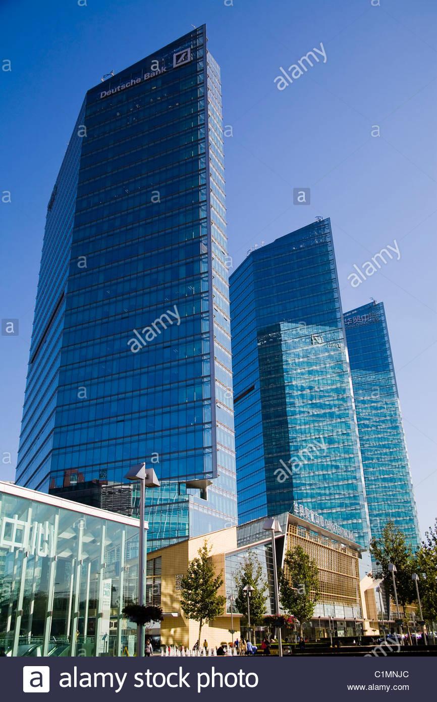 Peking City, Deutsche Bank, China Central Place, Chaoyang District, China Stockbild