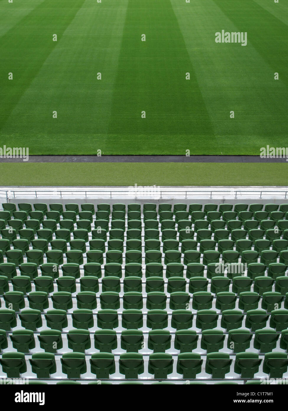 Leere Stadion Stockbild