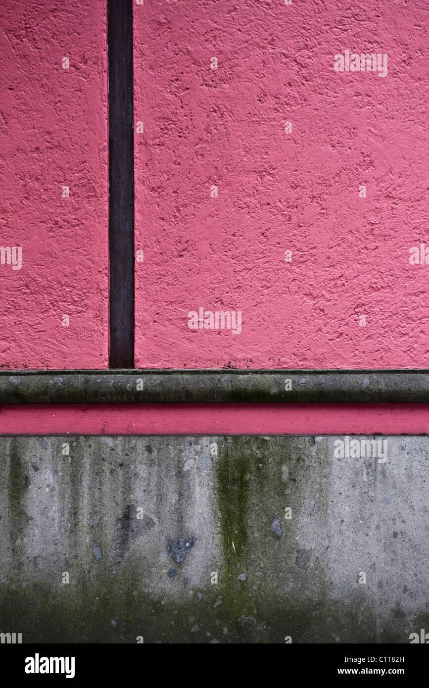 Stuck-Wand, close-up Stockbild