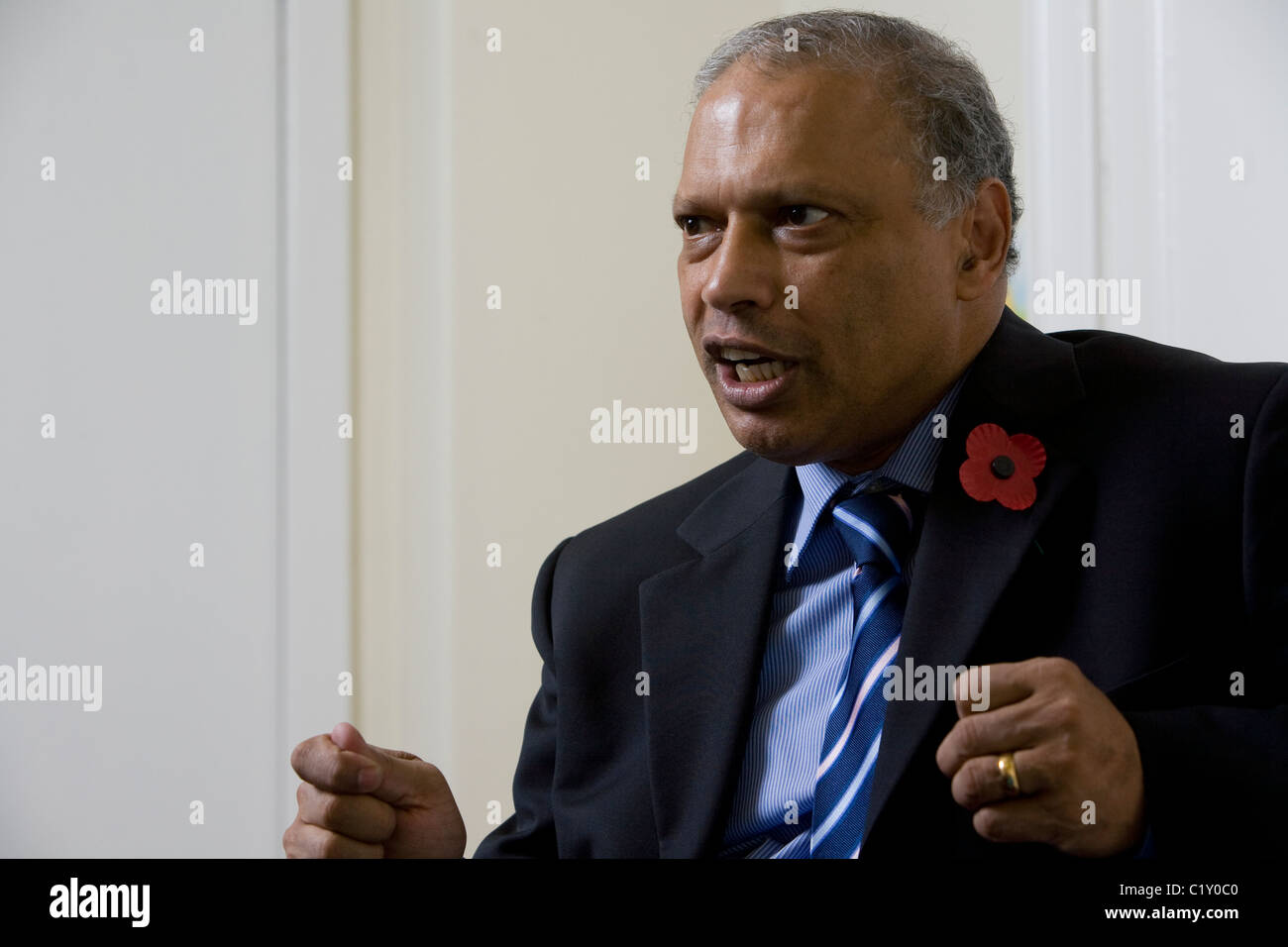 Dr.Patrick Sookhdeo, internationaler Direktor von Barnabas Fund Stockbild