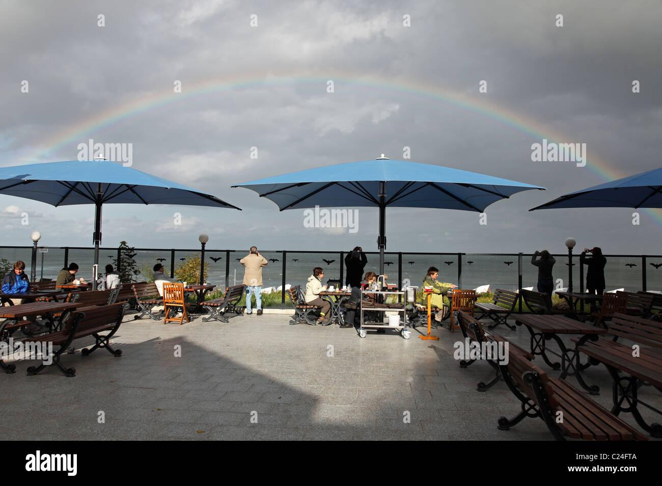 strandcafe stockfotos strandcafe bilder alamy. Black Bedroom Furniture Sets. Home Design Ideas