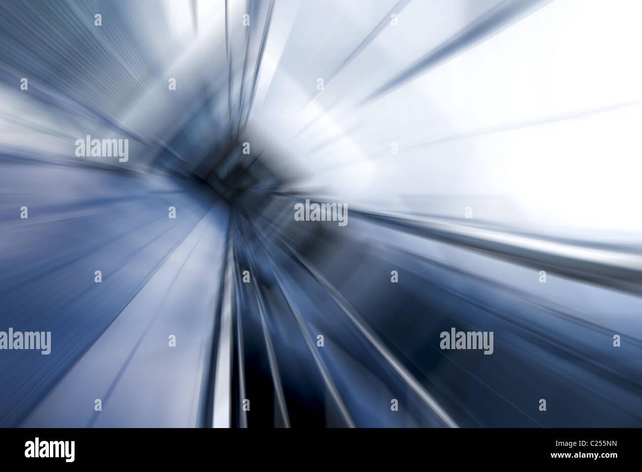 Blaustich Bewegungsunschärfe architektonische Abstraktion Stockbild