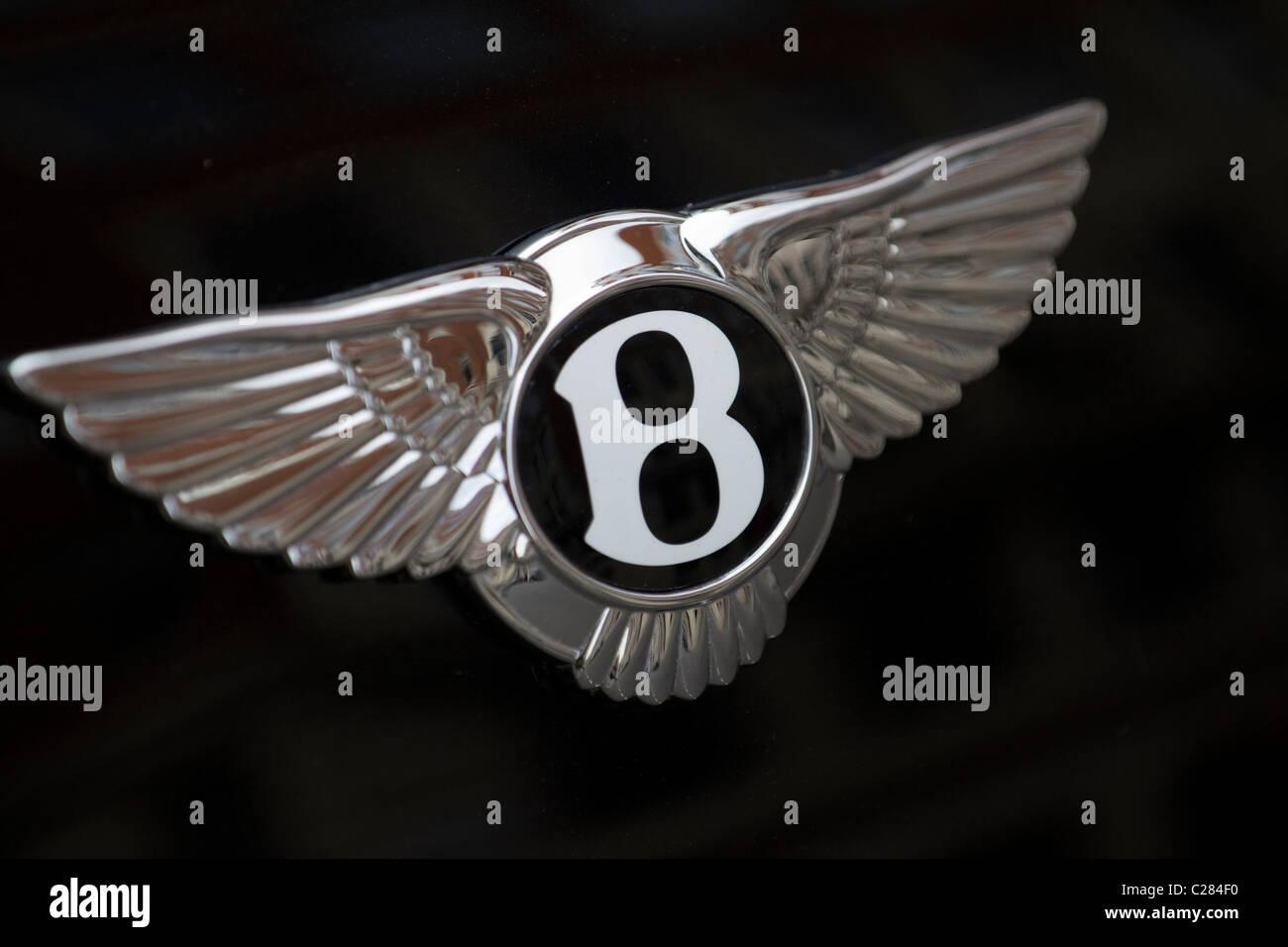 Bentley-Auto-Plakette Stockbild
