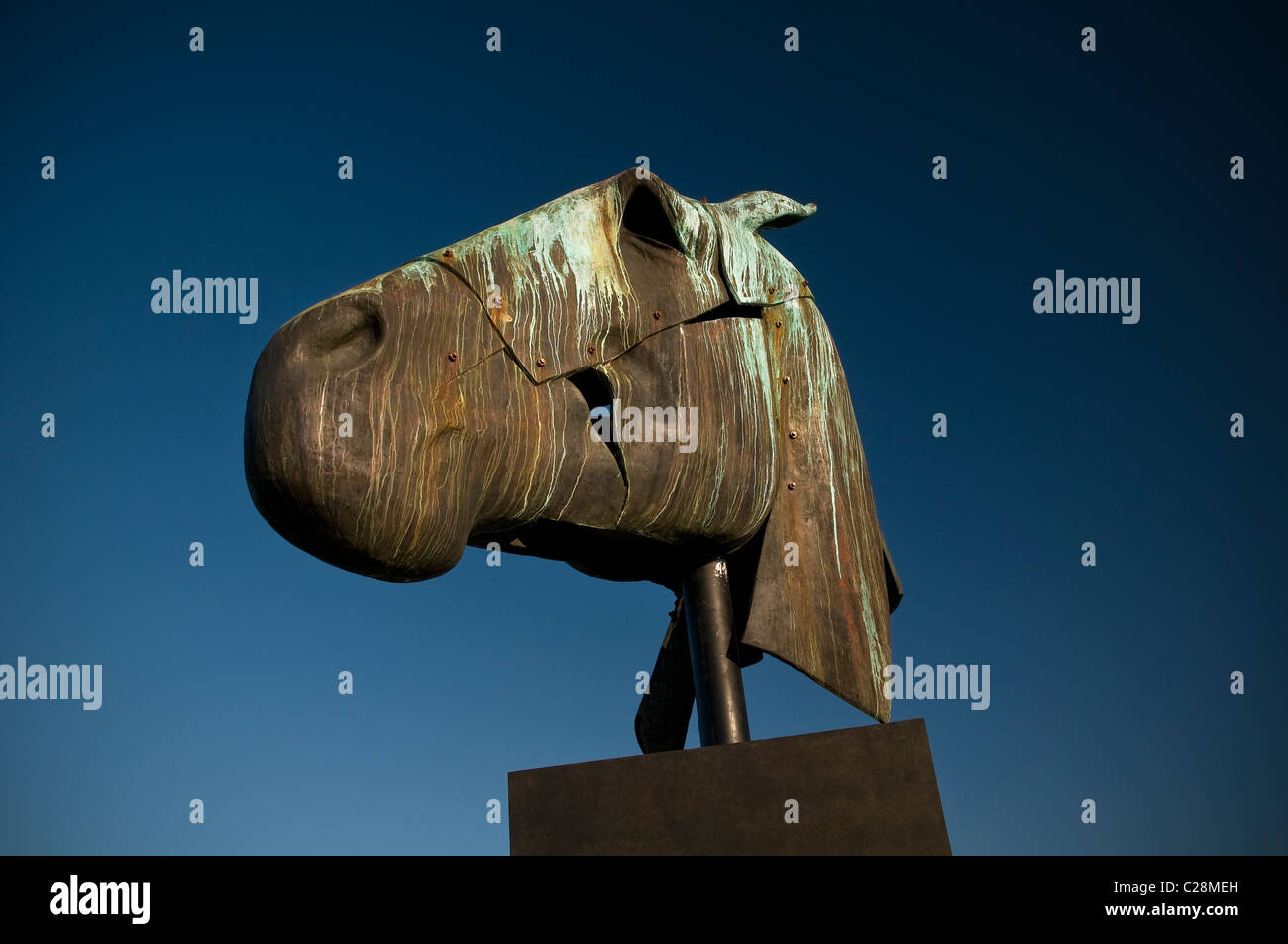 "Die ""Artemis"" Skulptur auf der Trundle in der Nähe von Goodwood, Chichester, West Sussex, UK Stockbild"