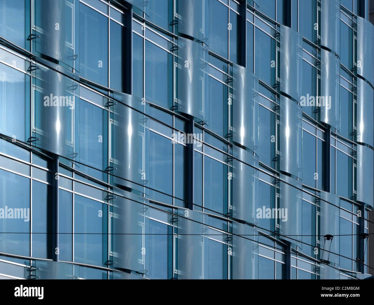 Details von Windows im Hotel Romeo, Naples. Stockbild