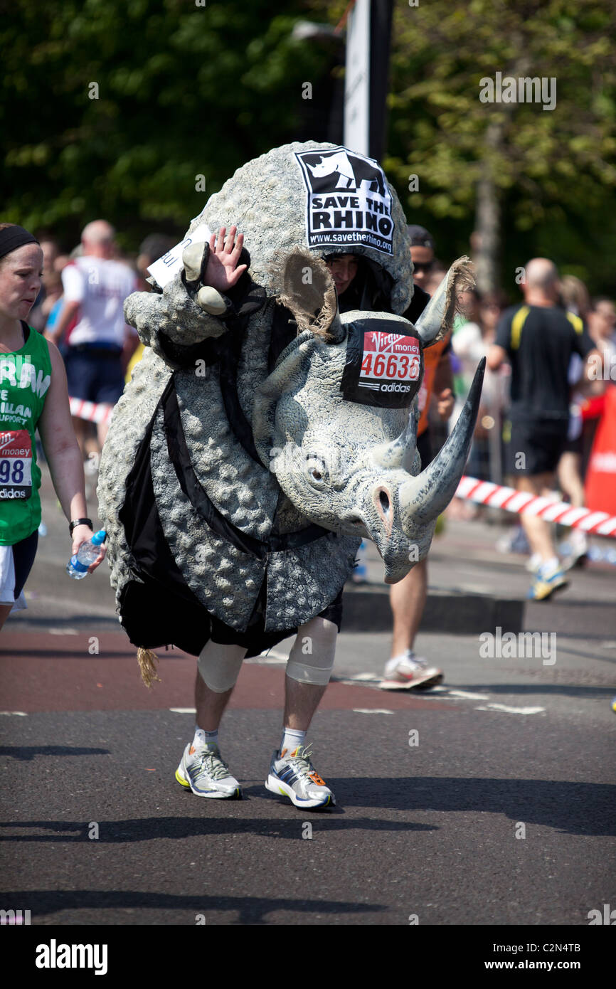 Der Virgin London-Marathon 2011 Stockbild