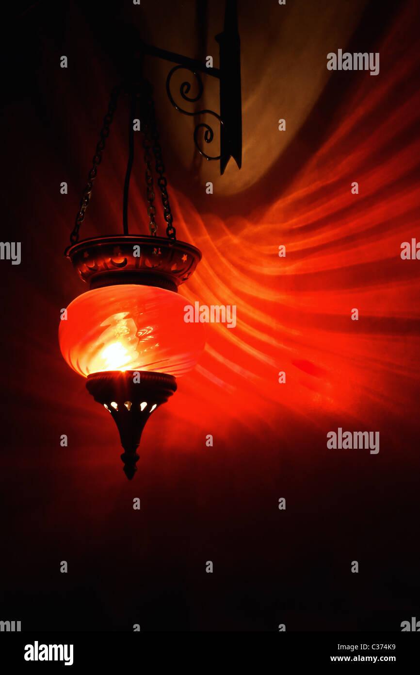 Rote Arabische Lampe Stockfoto