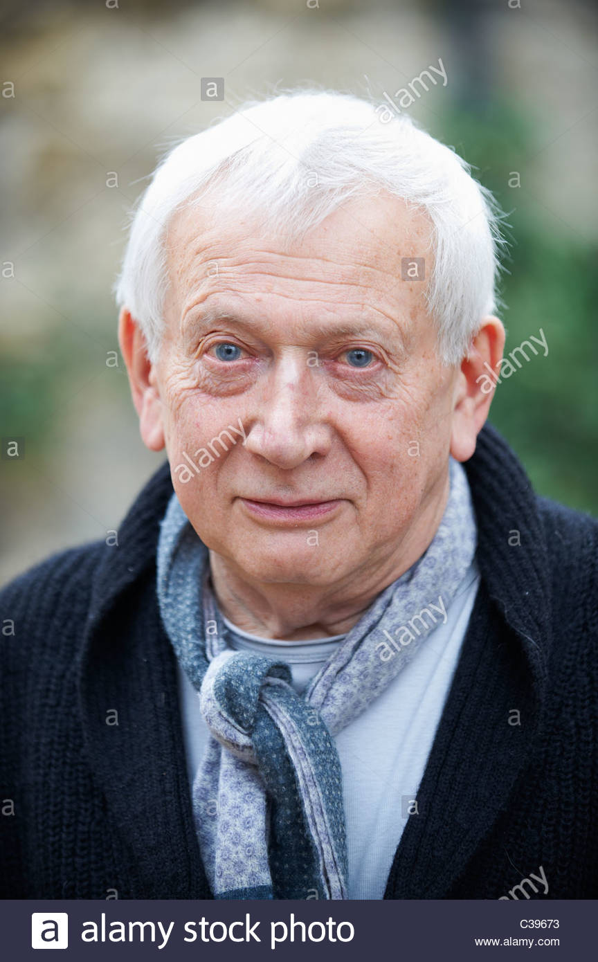 Paul Bailey, Schriftsteller, Autor von an Jerusalem und Klage am The Oxford literarische Festival 2011 in Christchurch, Stockbild