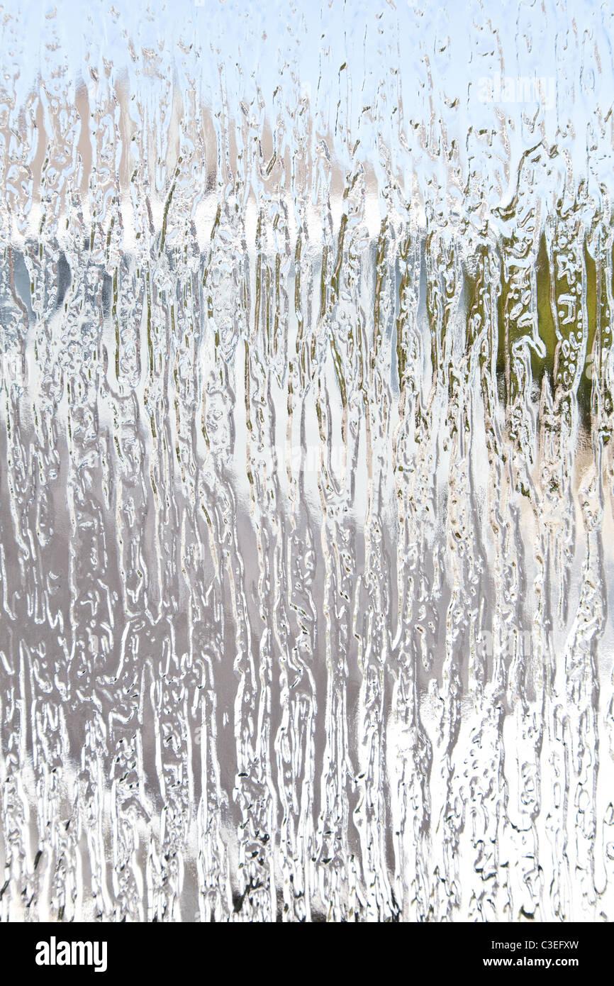 Crinkle getönte Scheiben für Hintergrund Stockbild