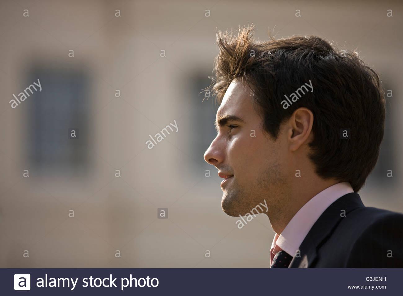 Porträt eines Kaufmanns im freien Stockbild