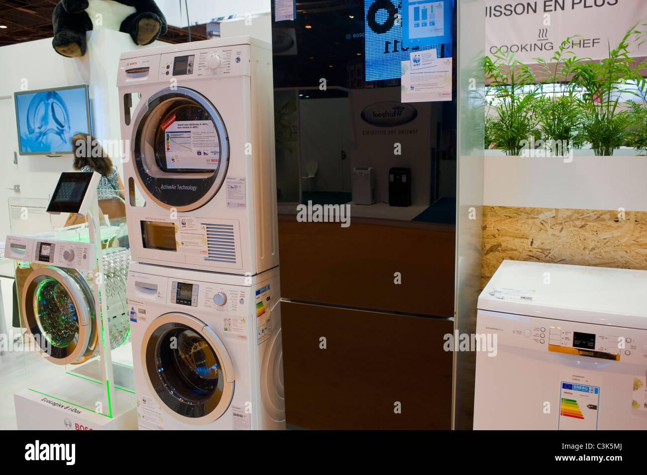 Paris frankreich energie sparen waschmaschine trockner auf