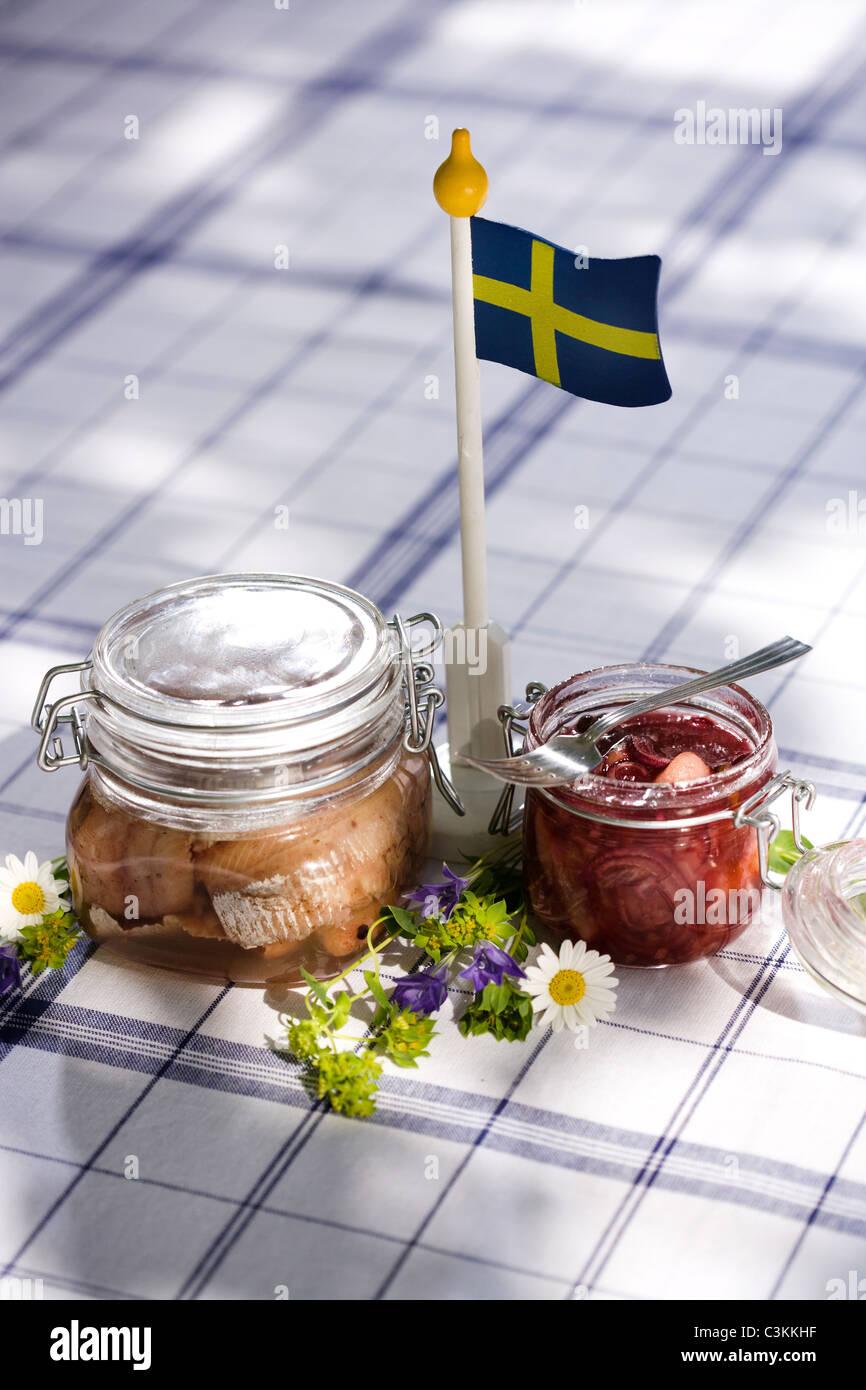 Mittsommer-Partei, Schweden. Stockbild