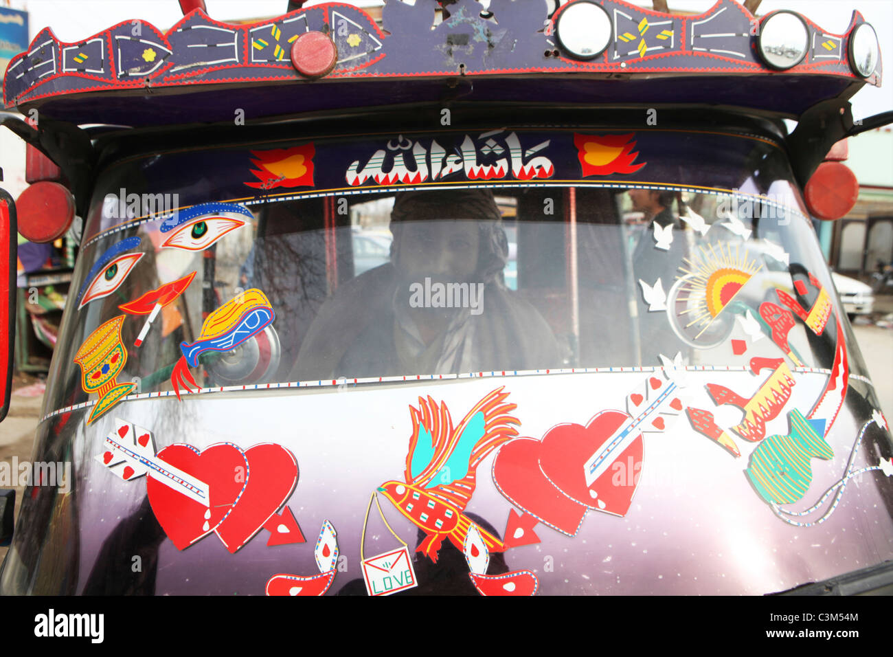Alltag auf dem Markt in Kunduz Stockbild