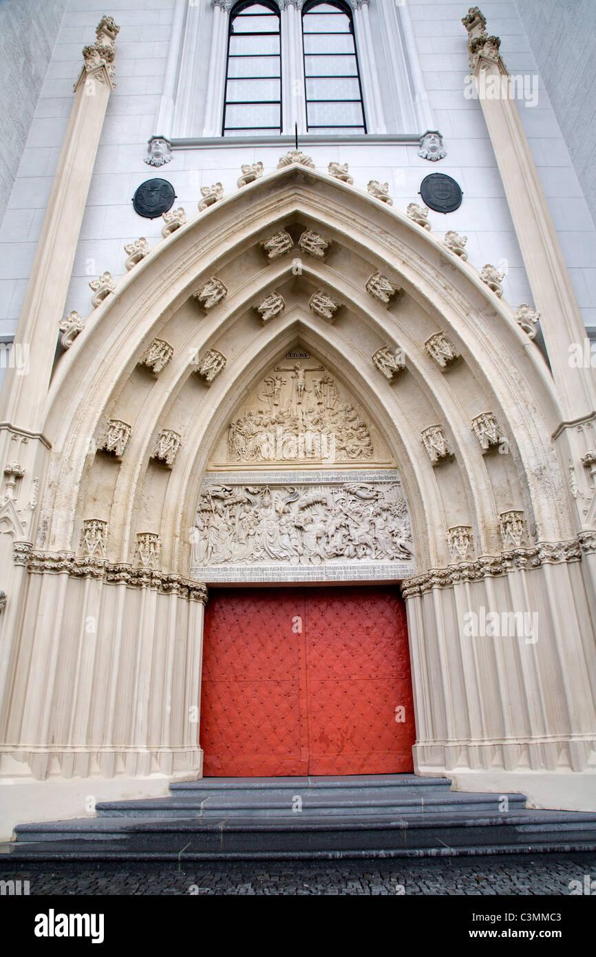 Mariazell - Portal der Basilika Stockbild