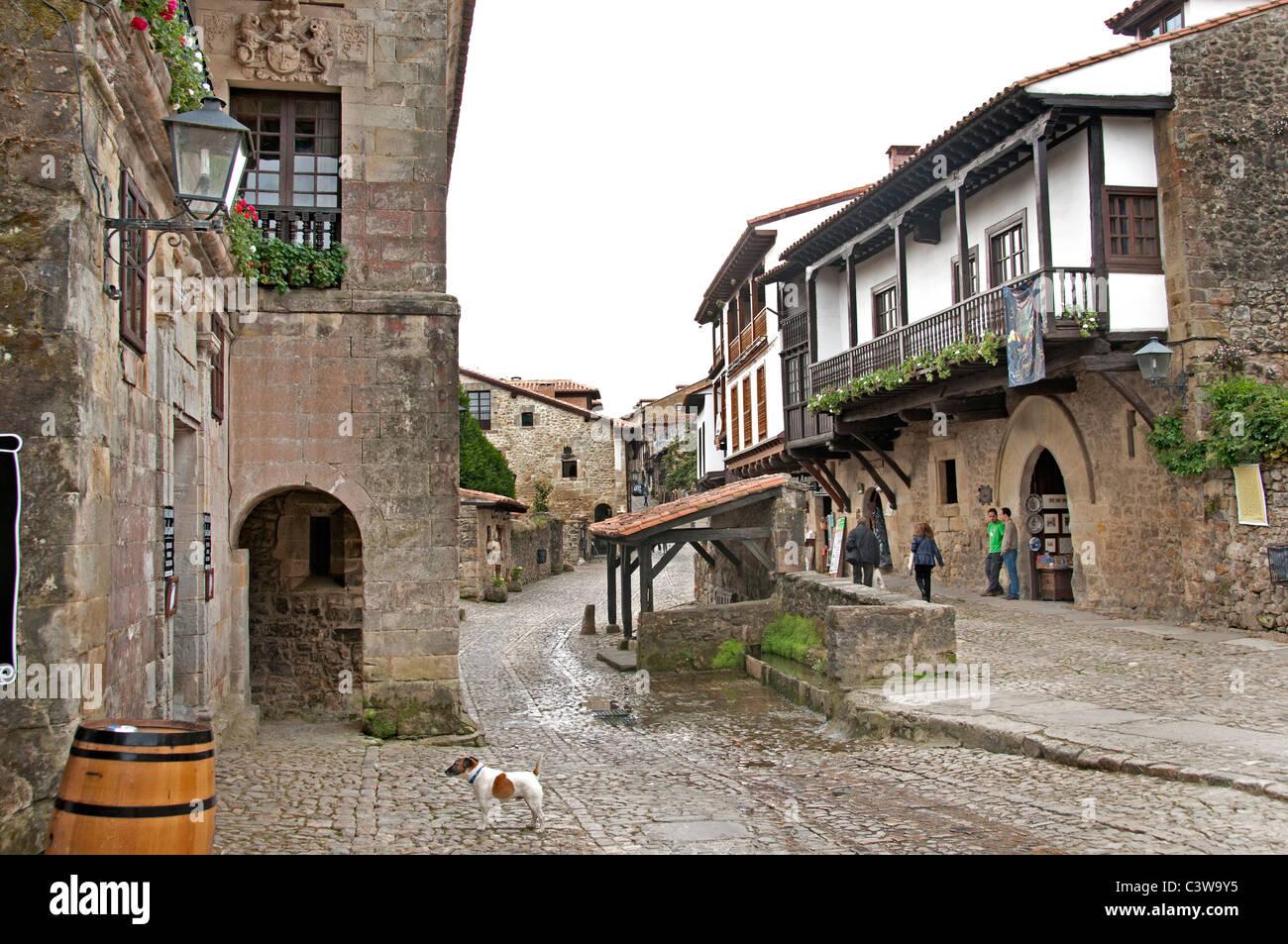 Santillana del Mar Kantabrien Spanien spanische Stadt Stockbild