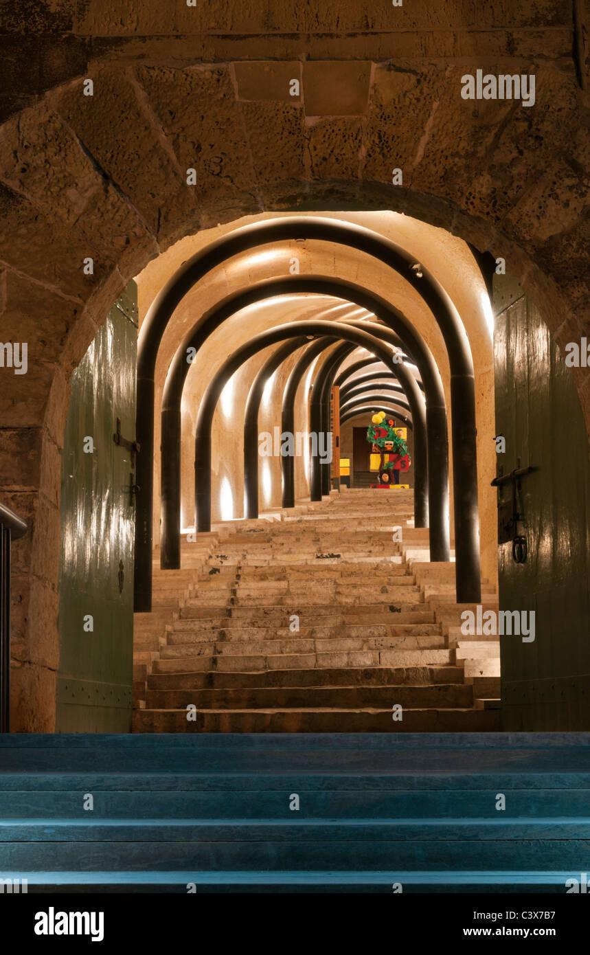 Eingang zum St. James Cavalier Centre Valletta Malta Stockbild