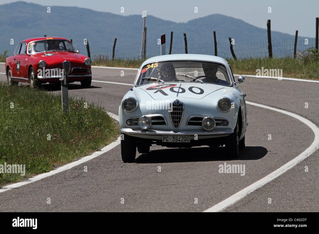 Mille Miglia 2011 Alfa Romeo Giulietta Stockbild
