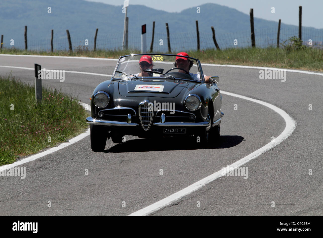 Mille Miglia 2011 Alfa Romeo Stockbild