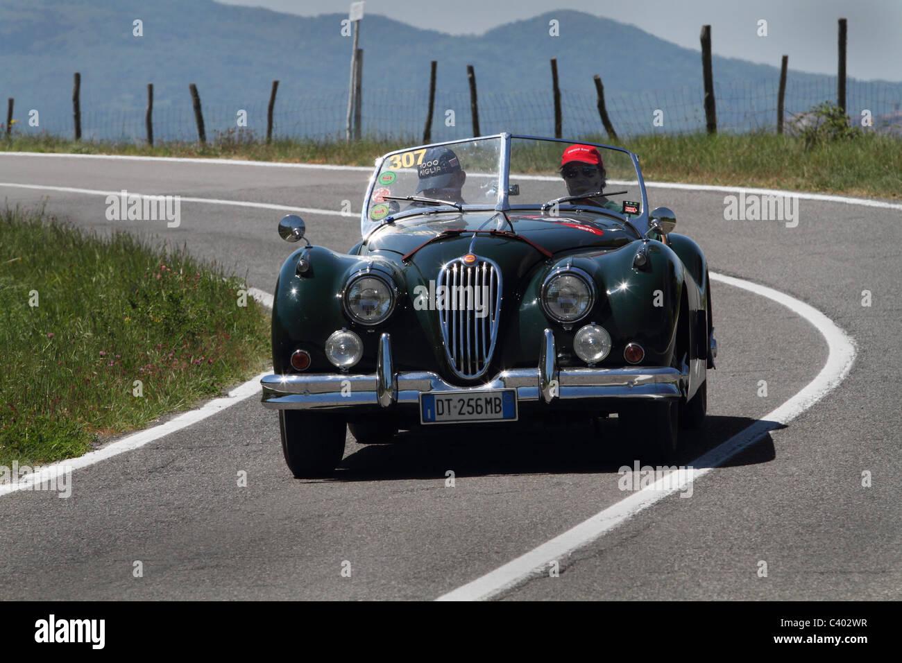 Mille Miglia 2011 Jaguar Stockbild
