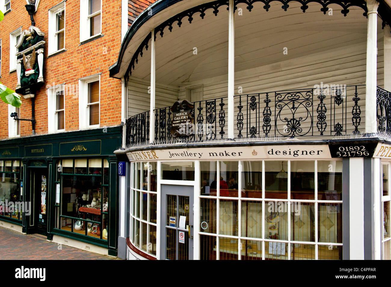 Royal Tunbridge Wells, Pantiles - eine touristische Attraktion Stockbild