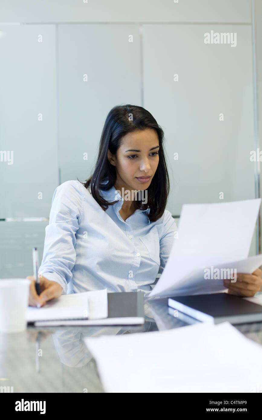 Geschäftsfrau arbeiten Stockbild