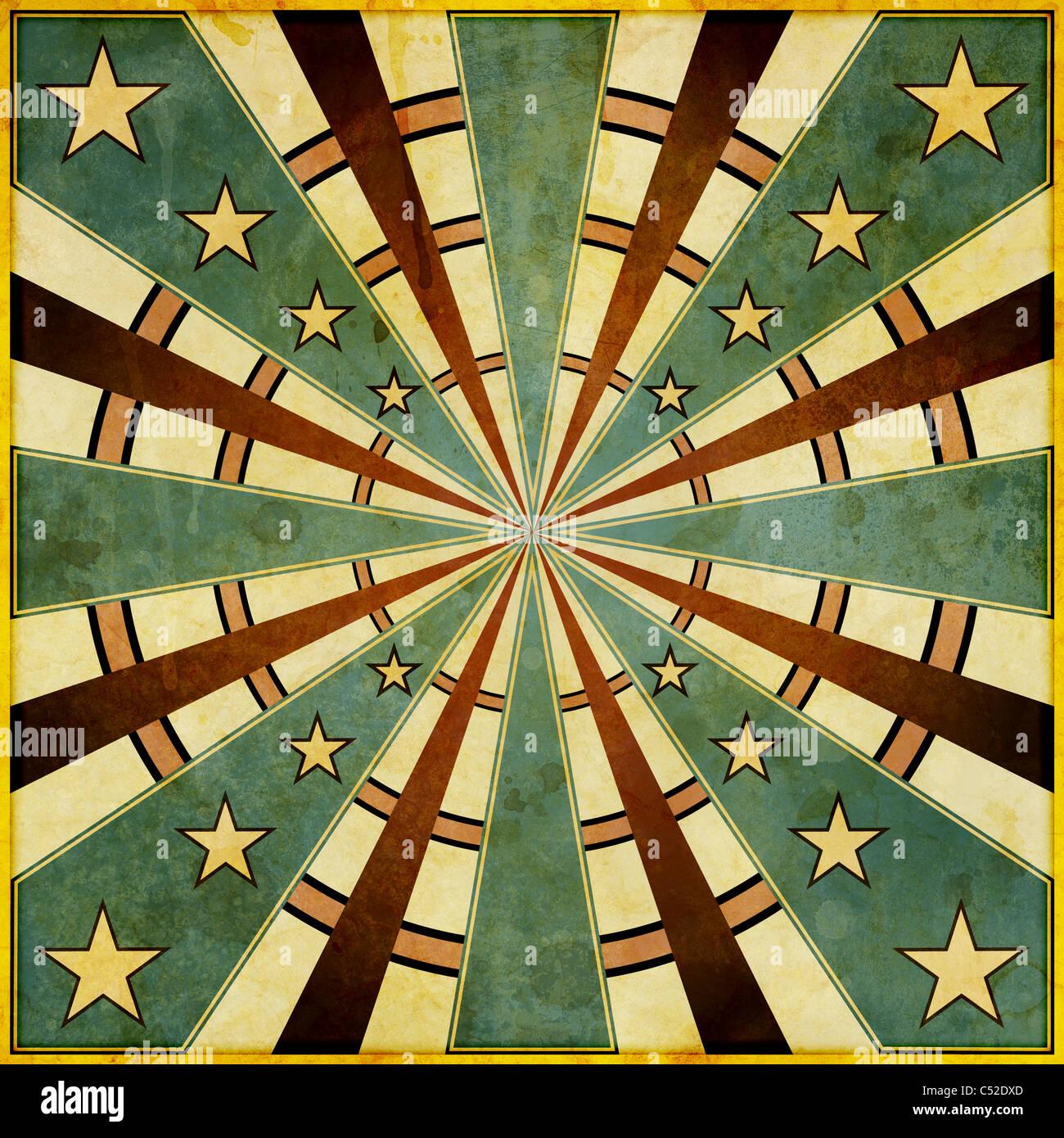 Ein Quadrat, Grunge-Stil, Dartscheibe mag Design-Darstellung. Stockbild