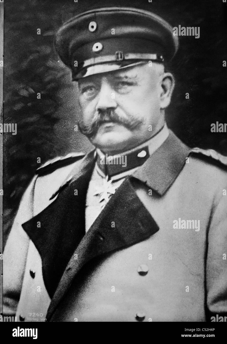General Von Hindenburg Stockbild