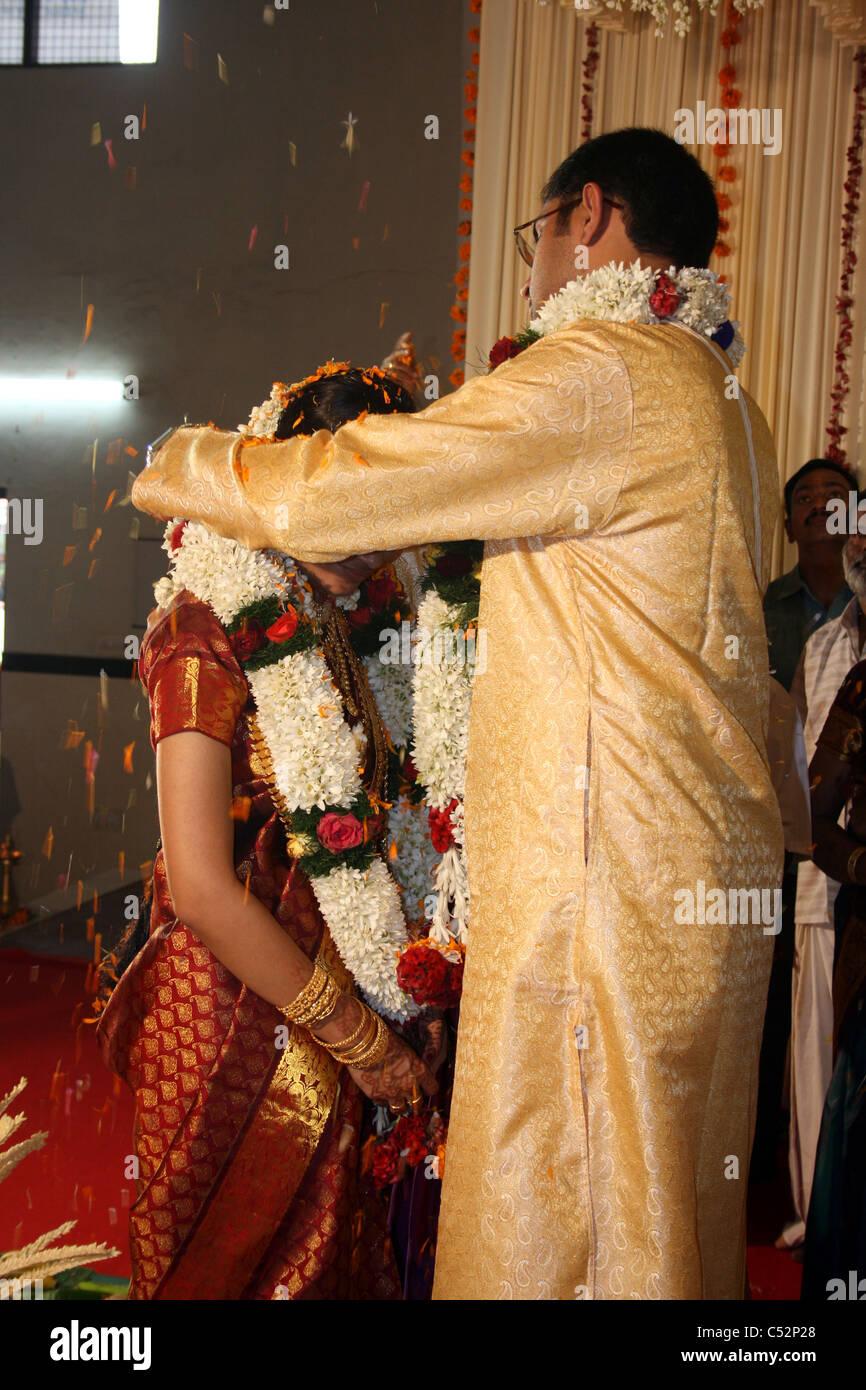 Eine Hinduistische Hochzeitszeremonie In Indien Stockfoto Bild