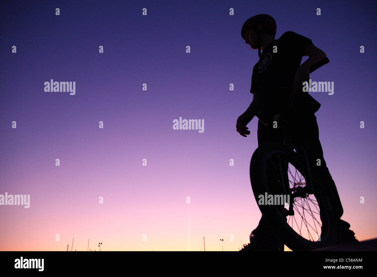 BMX-Rad, Biker, Fahrrad, Griechenland Stockbild
