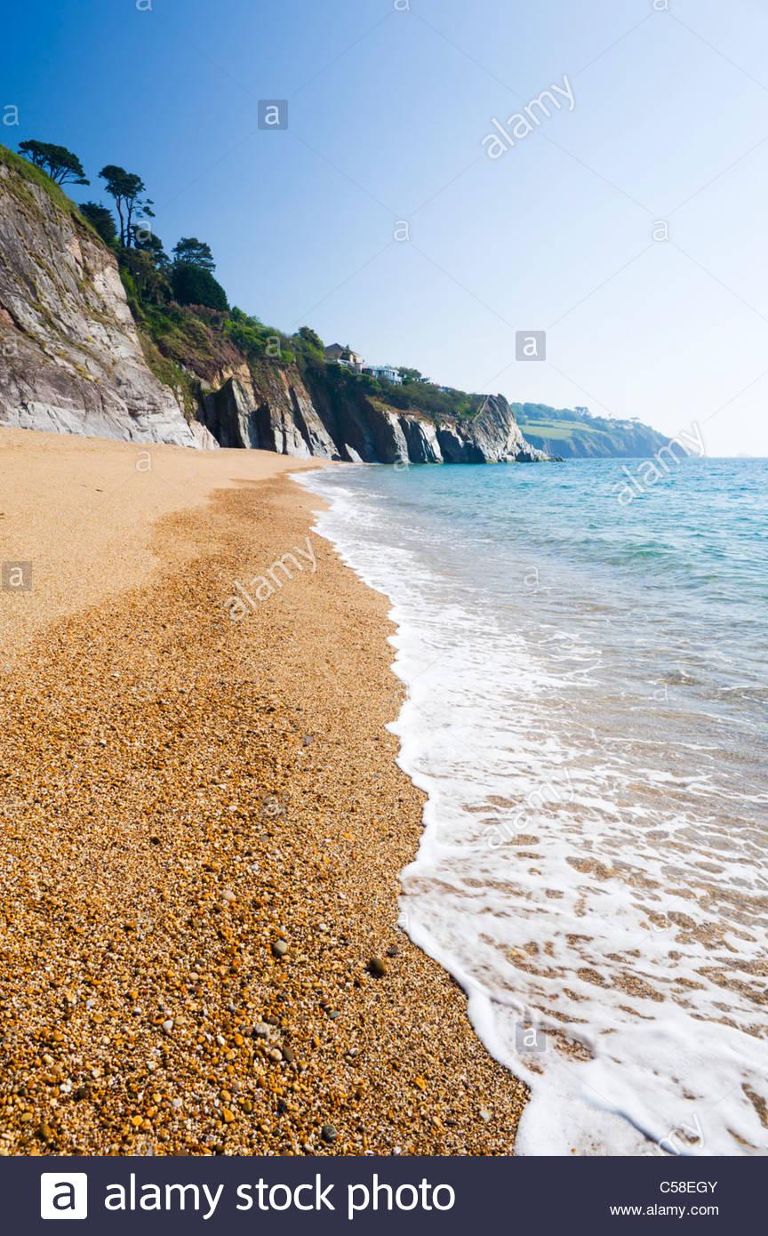 Landcombe Bucht, in der Nähe von Dartmouth, South Hams Bezirk, Devon, England. Stockbild