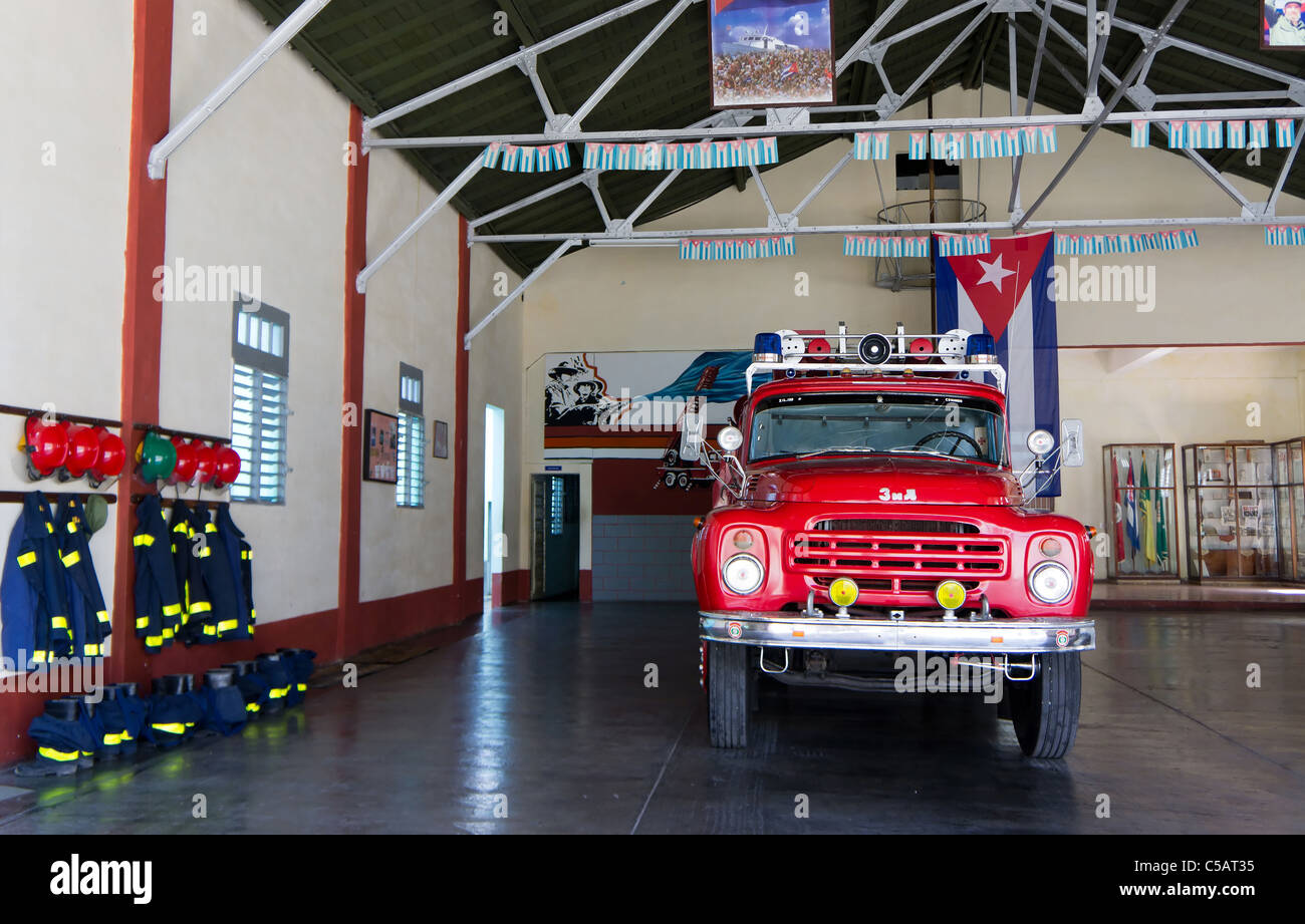 Kubanische Feuerwache, Santa Clara, Kuba Stockbild