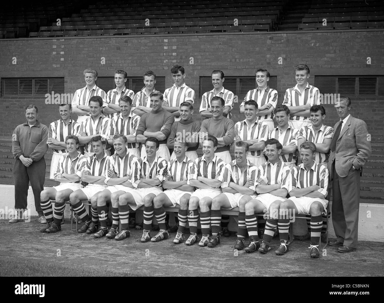West Bromwich Albion Football-Team der 1950er Jahre 31/7 / Stockbild