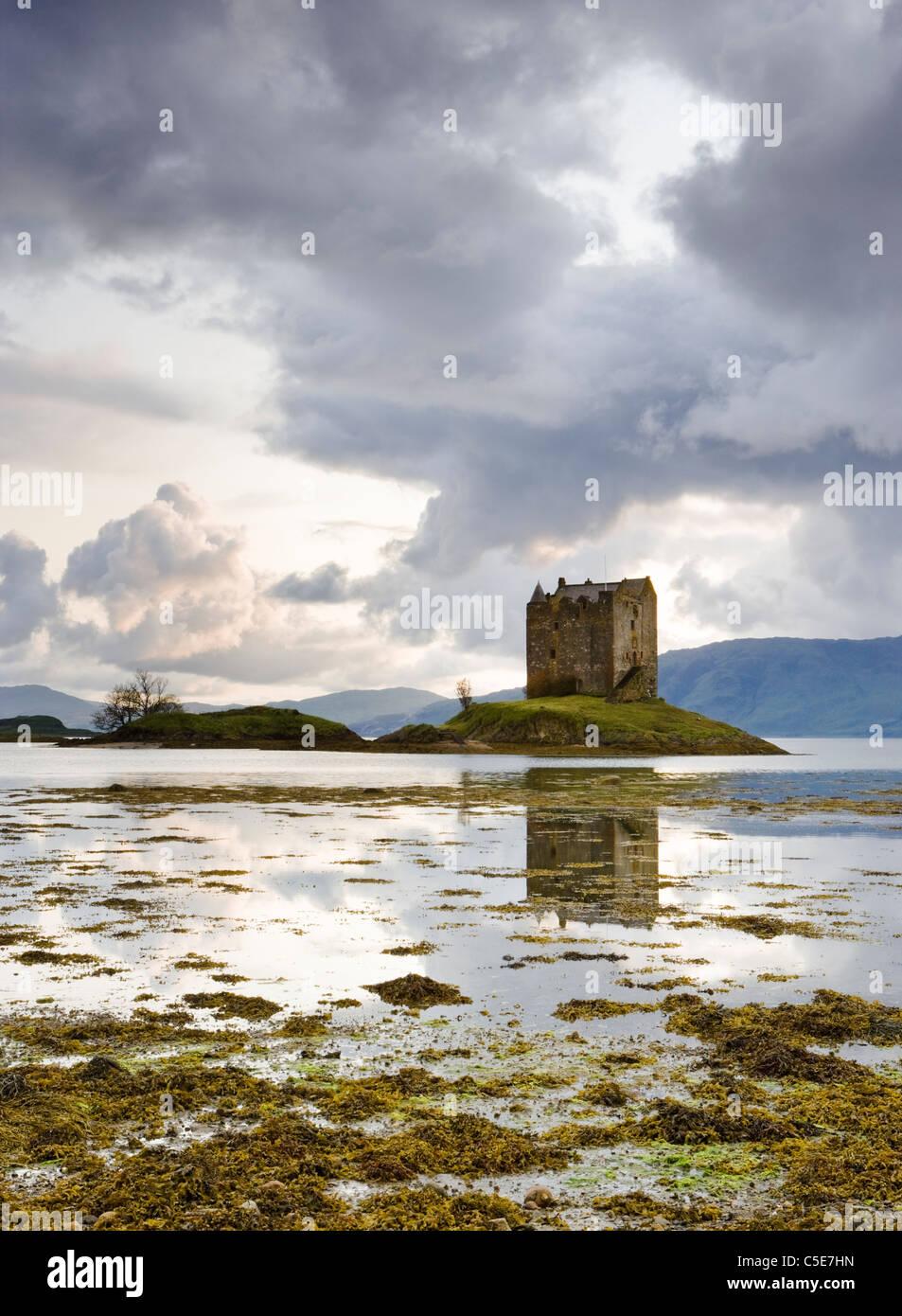 Castle Stalker, Argyll, Schottland, UK Stockbild