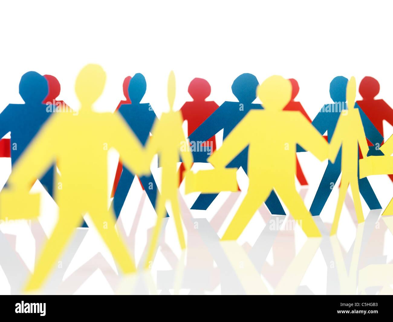 Papier-Kette Menschen Stockbild