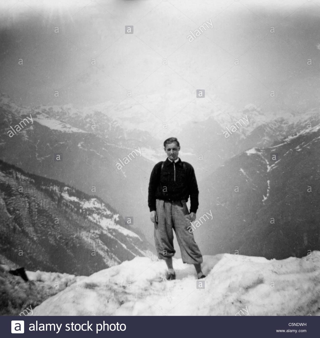 Mann, Alagna Valsesia, 50 s-60 s Stockbild