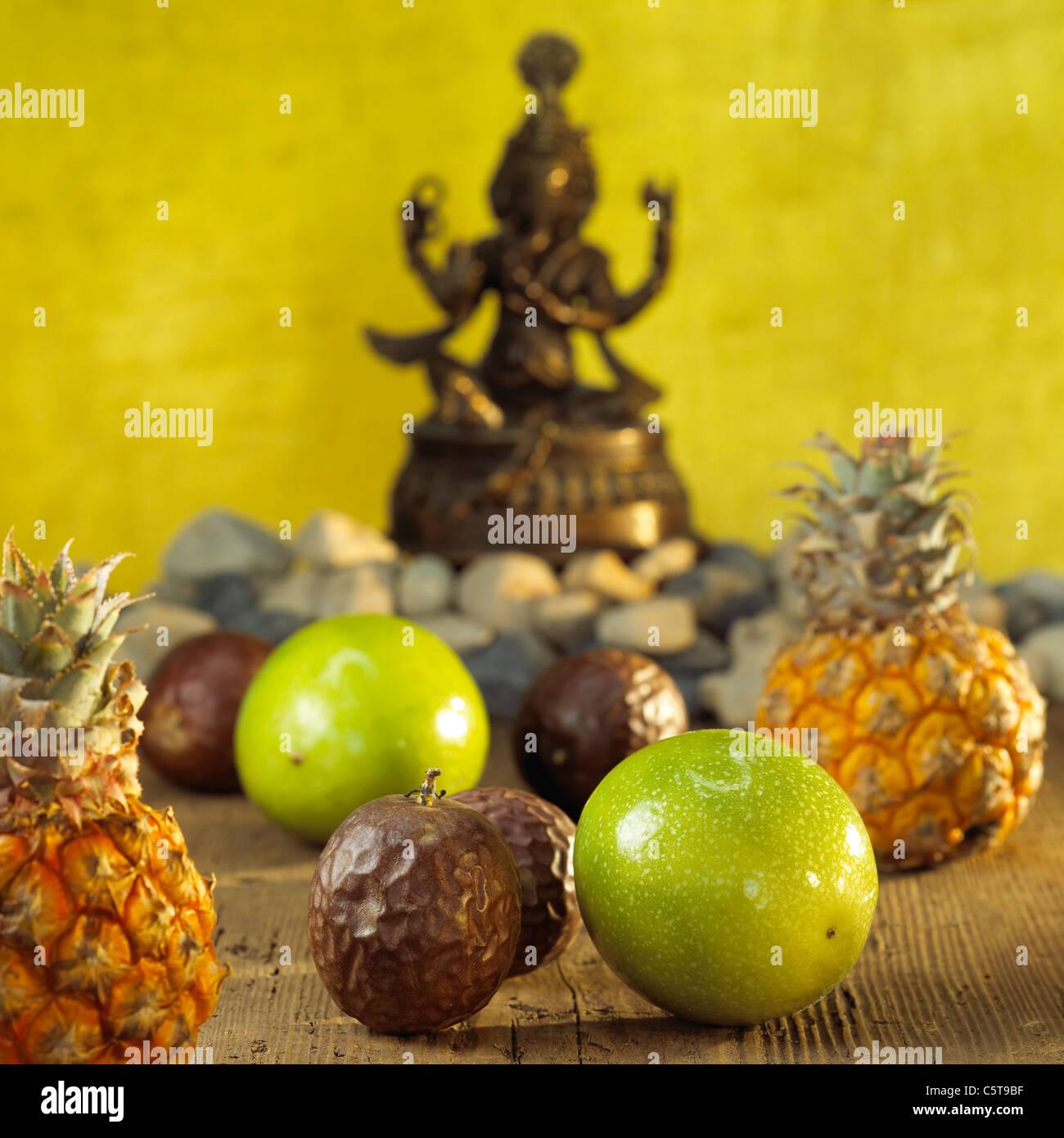 Verschiedenen exotischen Früchten, close-up Stockbild