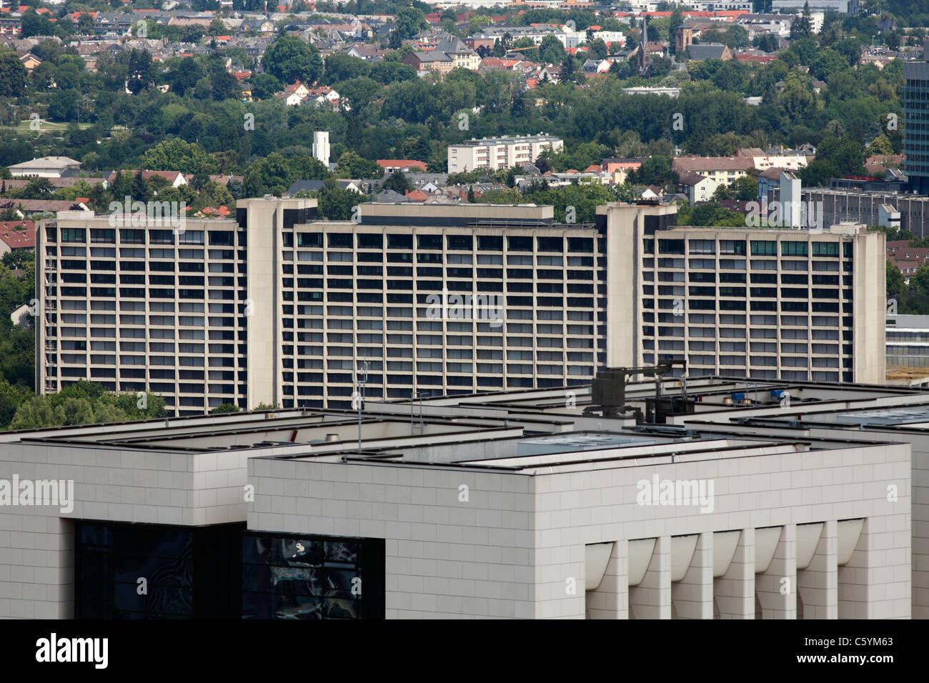 Deutsche Bundesbank-Zentrale in Frankfurt am Main Stockbild