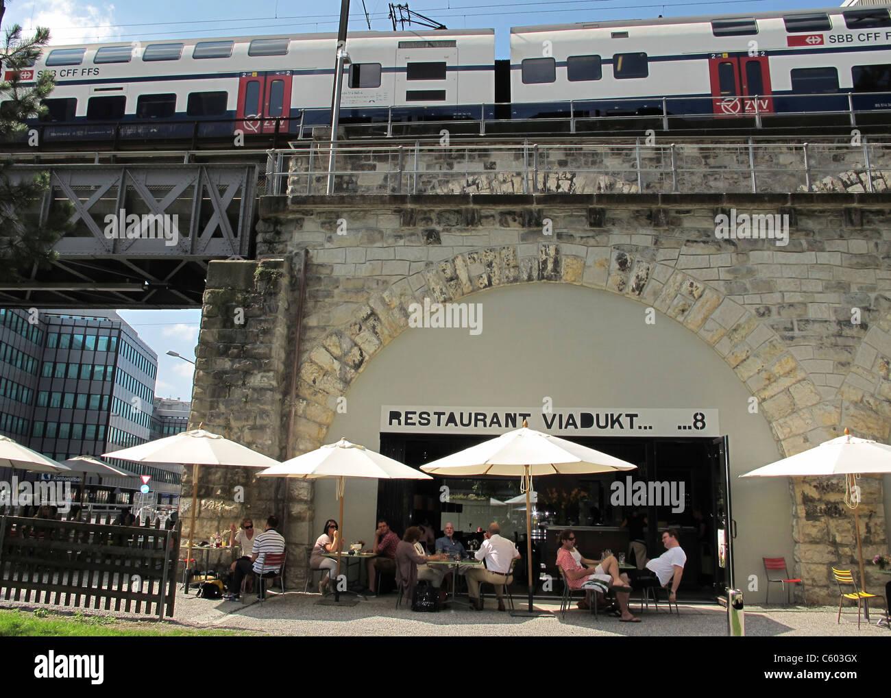Viadukt 8 Restaurant Kreis 5, Schweiz Zürich, Stockbild