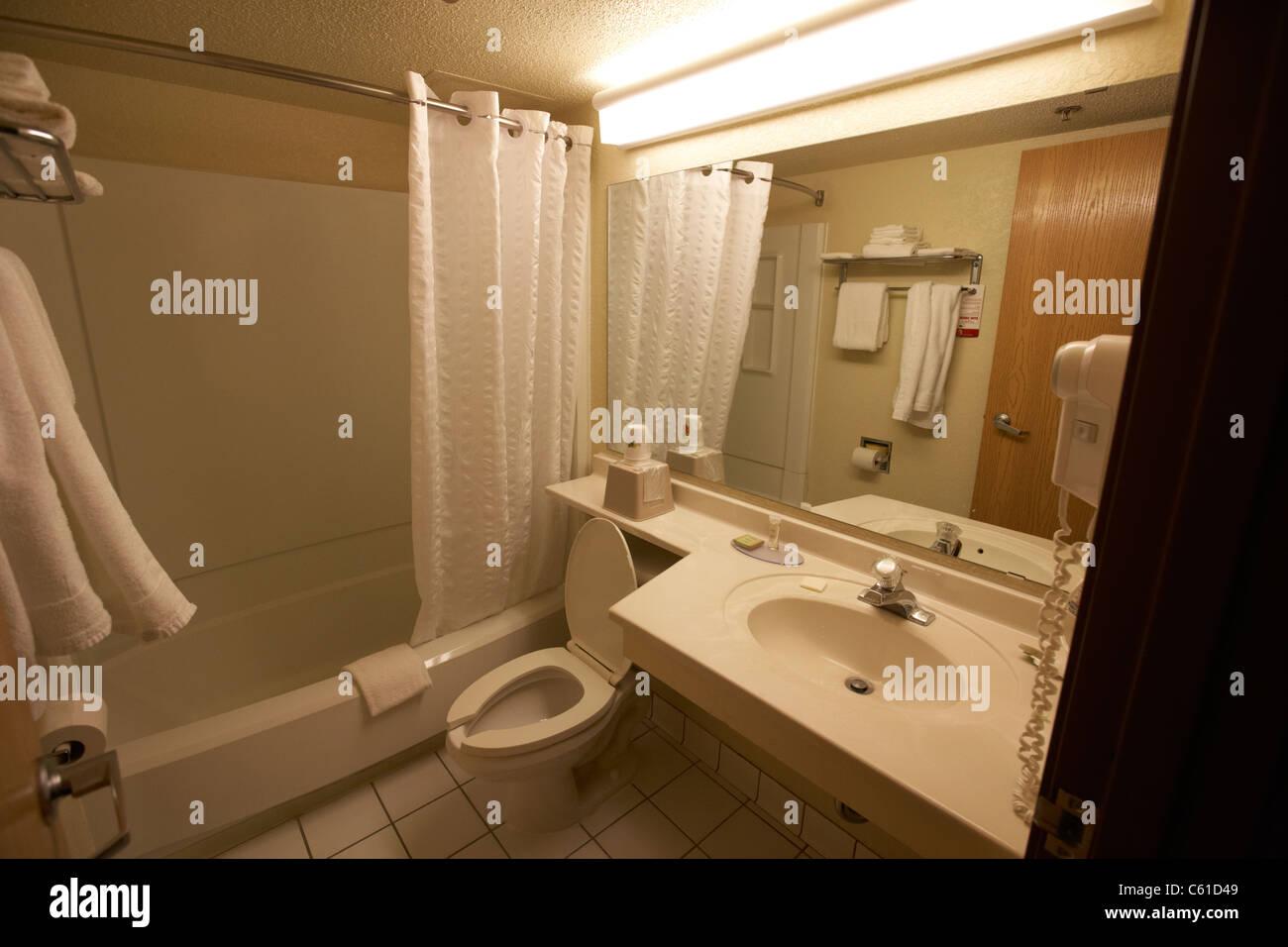 günstiges Hotel-Motel-Bad in den usa Stockbild