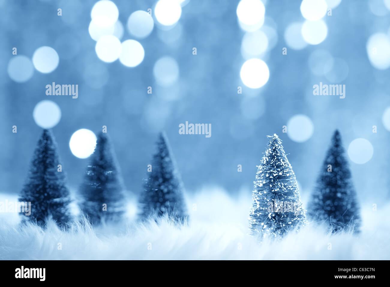 Weihnachten-Fir-Tree-Modell auf unscharfen Hintergrund Stockbild
