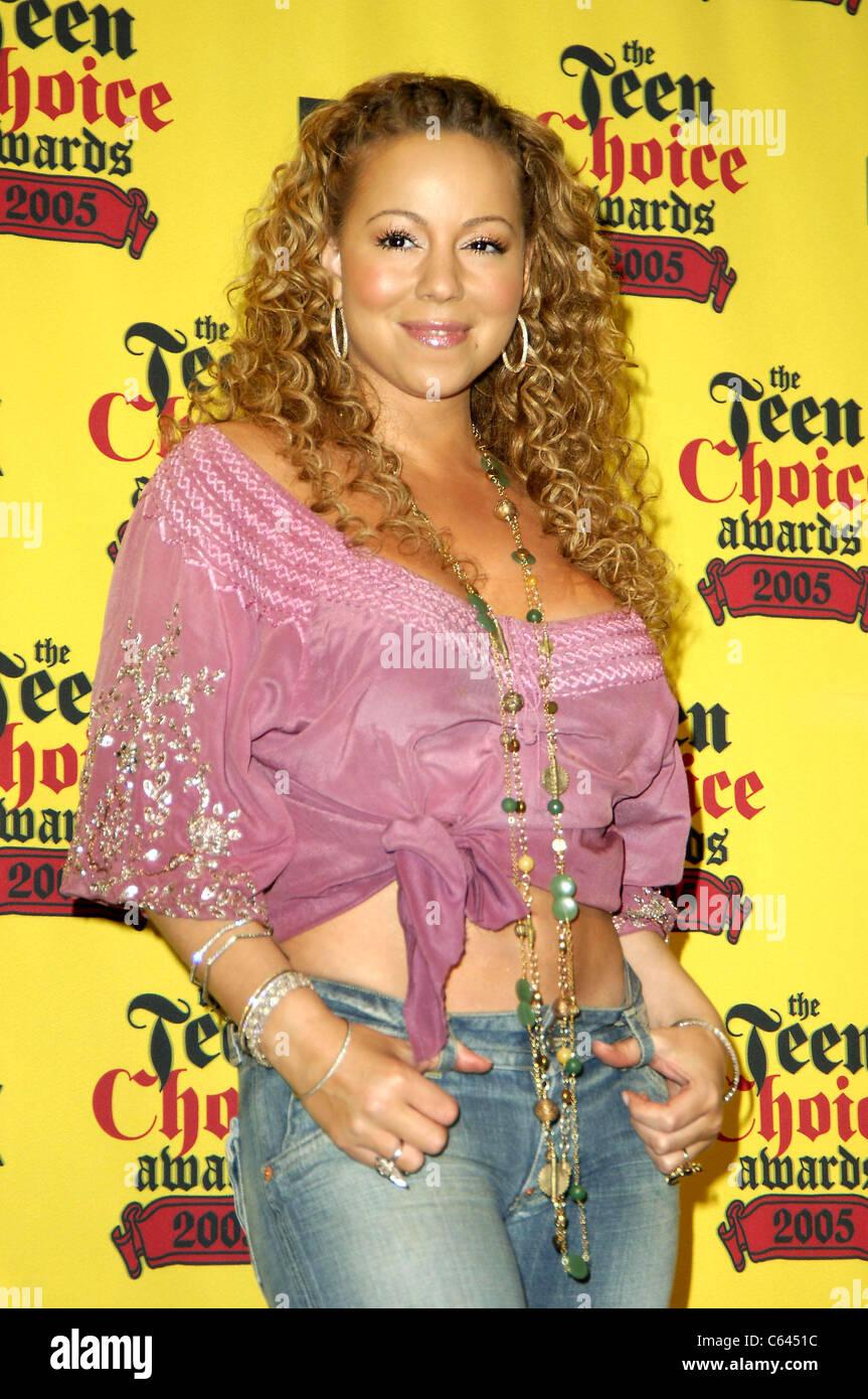 Mariah Carey im Ankunftsbereich für 2005 TEEN CHOICE AWARDS, The Gibson Amphitheatre, Universal City, Los Angeles, Stockbild